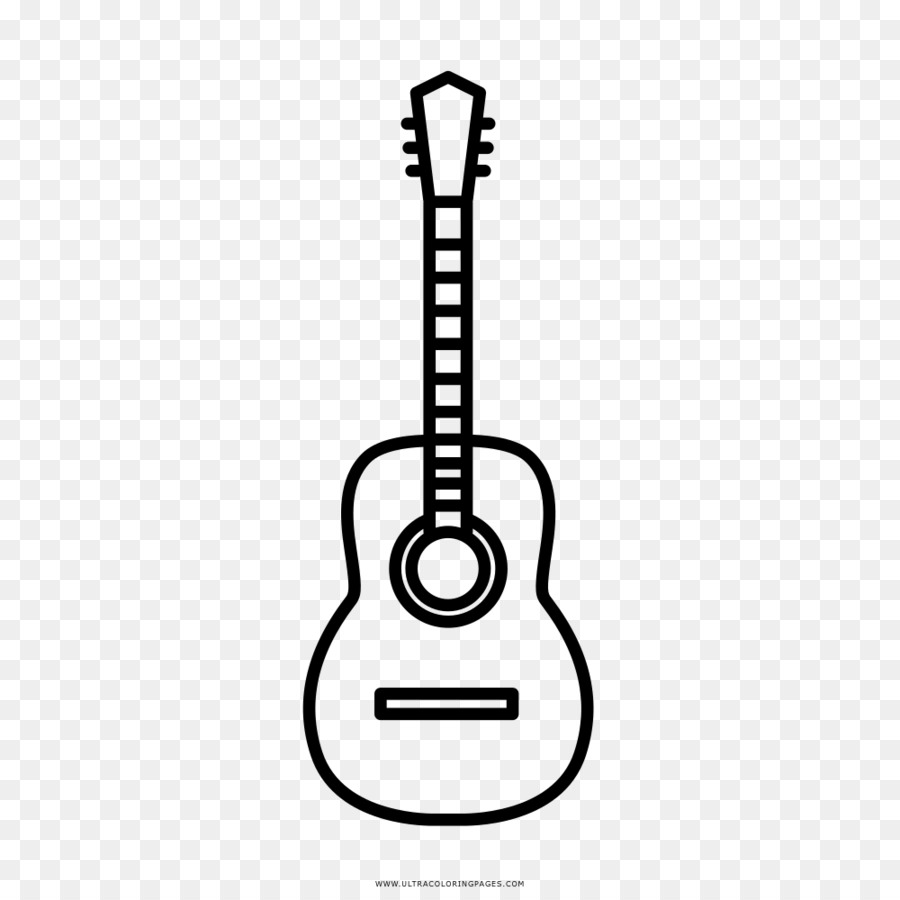 acoustic guitar drawing coloring book - guitar icon png download - 1000 1000