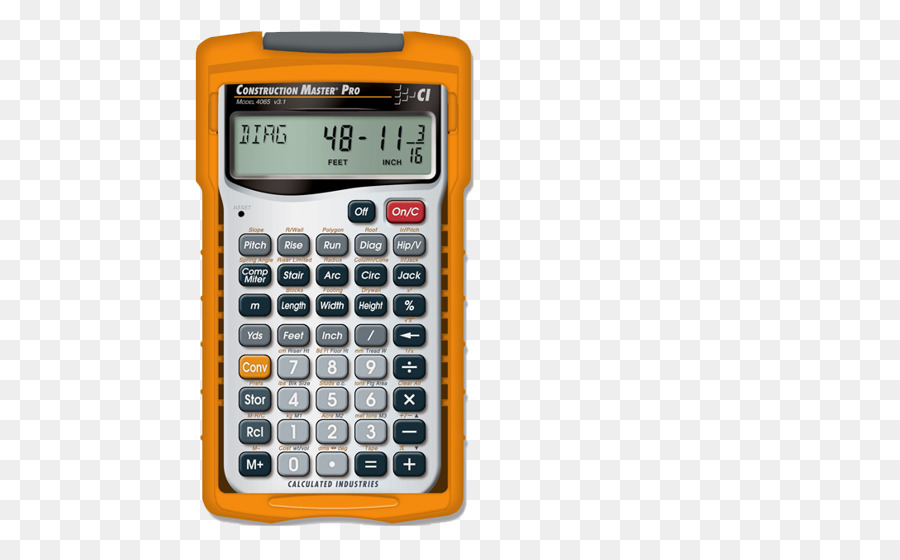 Calculated Industries Construction Master Pro 4065 Calculator png