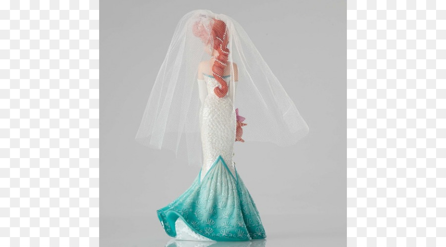 Ariel Belle Wedding dress Disney Princess Figurine - ARIEL BABY png ...