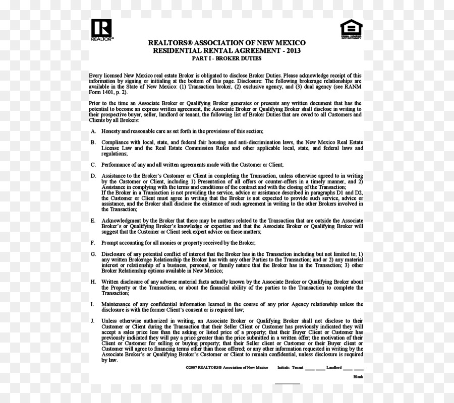 Rental Agreement Contract Lease Document Renting Home Png Download