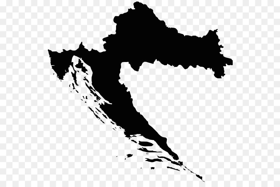Croatia Vector Map Royalty Free World Map Png Download 600 593