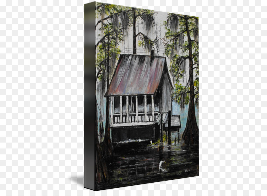 painting bayou picture frames gallery wrap canvas gone fishing png