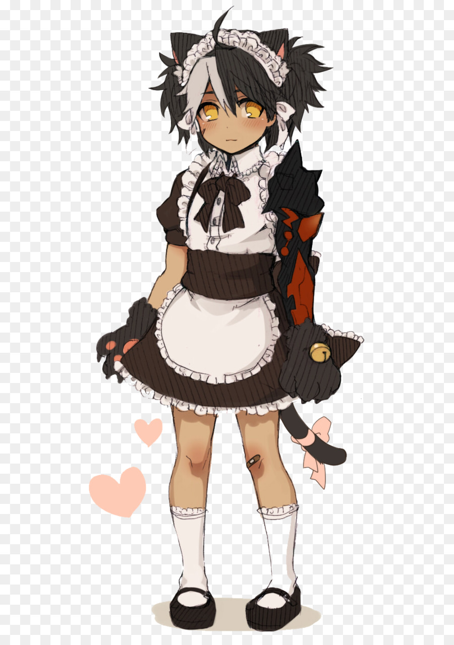 Elsword Game Maid Common Raven Maid Dress Png Download 6321264