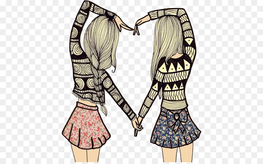 best friends forever friendship drawing love best friend png