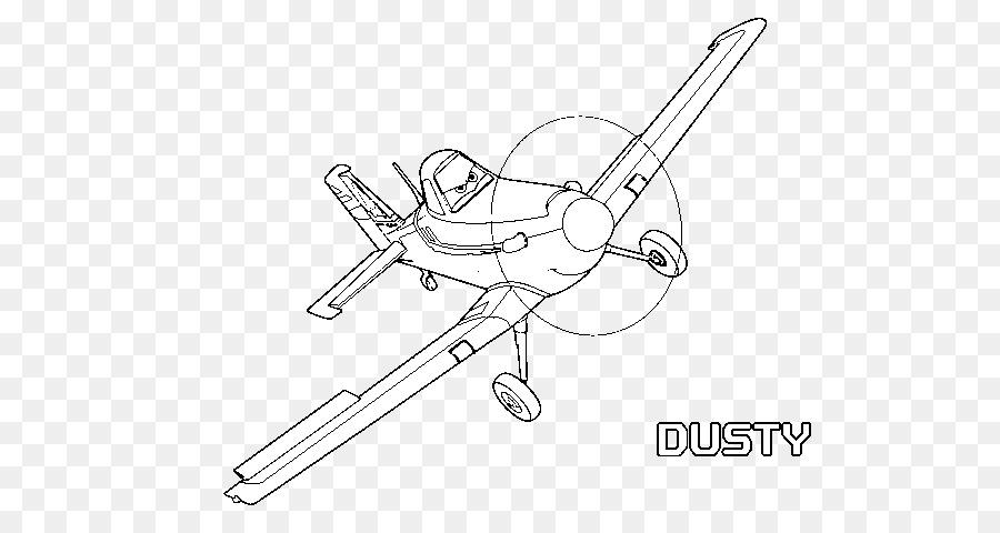 Dusty Crophopper Avión de la Línea de arte, Dibujo para Colorear ...