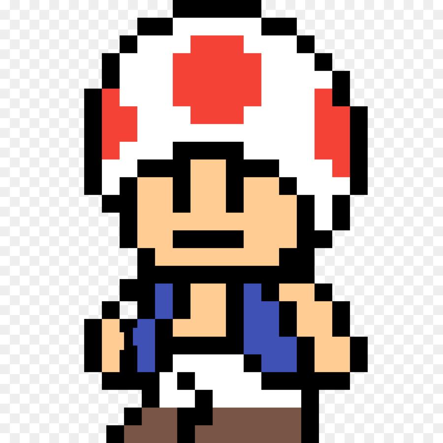 Minecraft Toad Mario Bros. Pixel Art   Mario Pixel