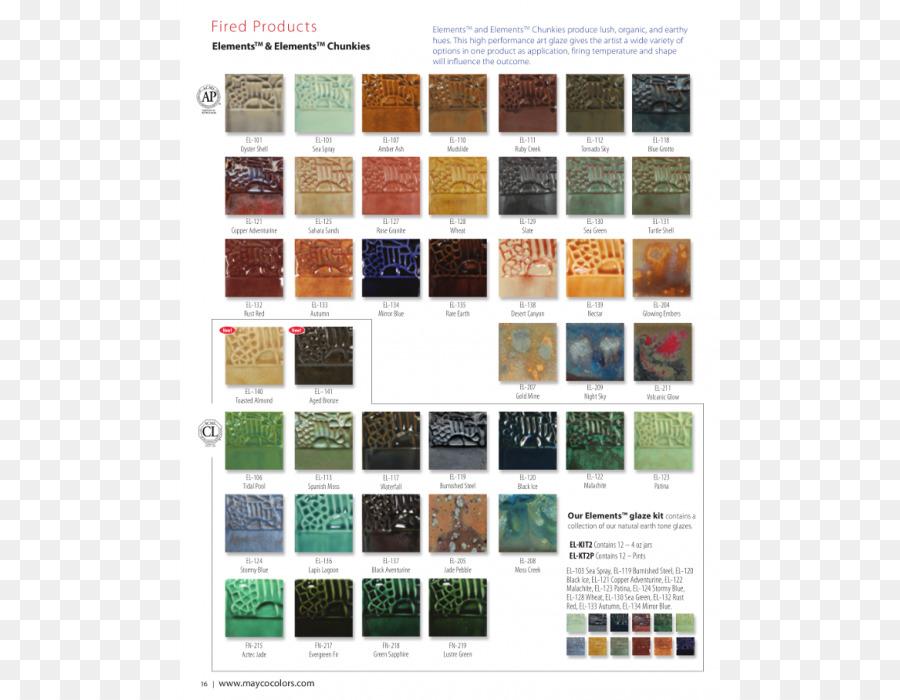 Color Chart Ceramic Glaze Color Plaster Molds Png Download 700