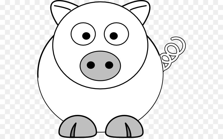 Libro para colorear de Niño Página de Dibujo - cerdo vector png ...