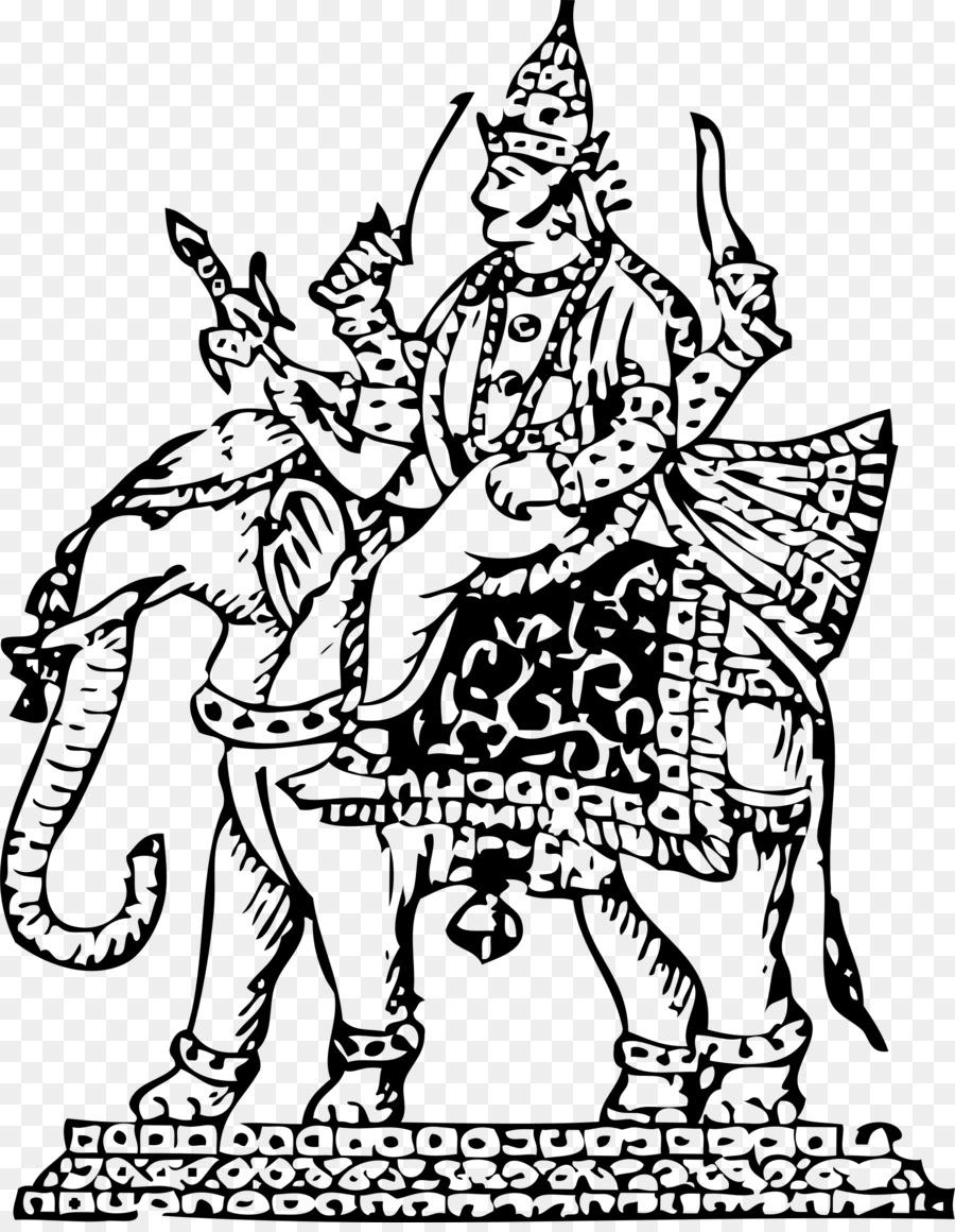 Indra Ganesha Parvati Hinduismo libro para Colorear - ganesha ...