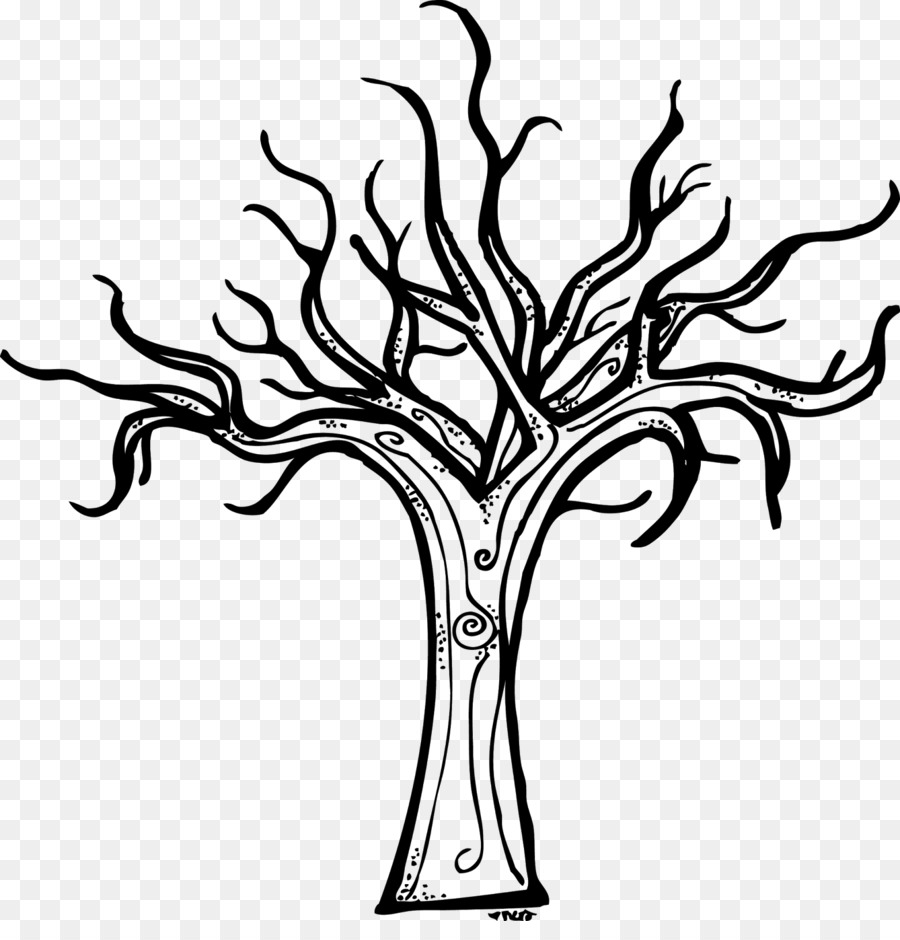 Coloring Book Tree Drawing Trunk Clip Art