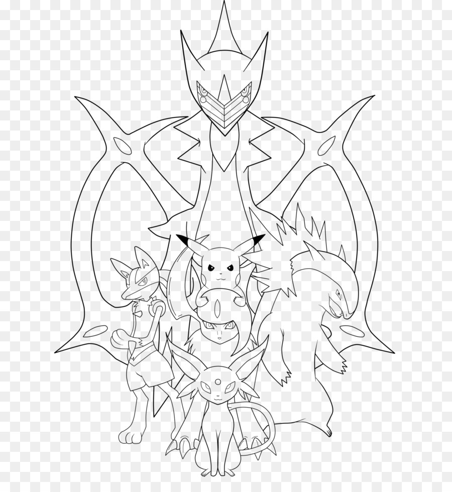 Drawing Pokémon Arceus Sketch - krishna line art Formatos De Archivo ...