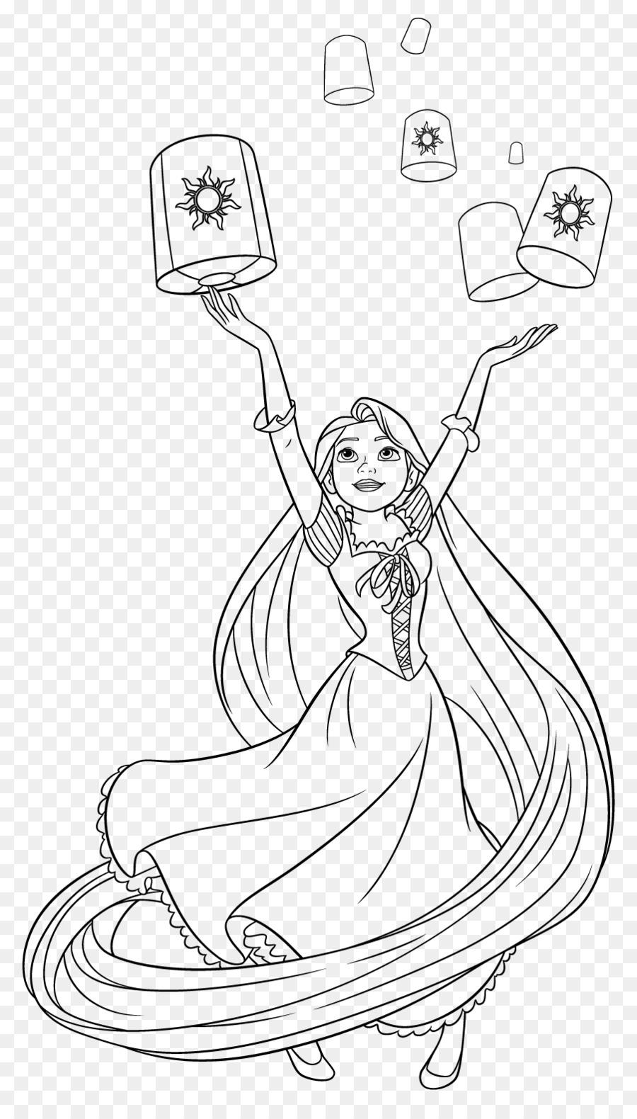 Rapunzel Coloring book Drawing Tiana Disney Princess - Disney ...