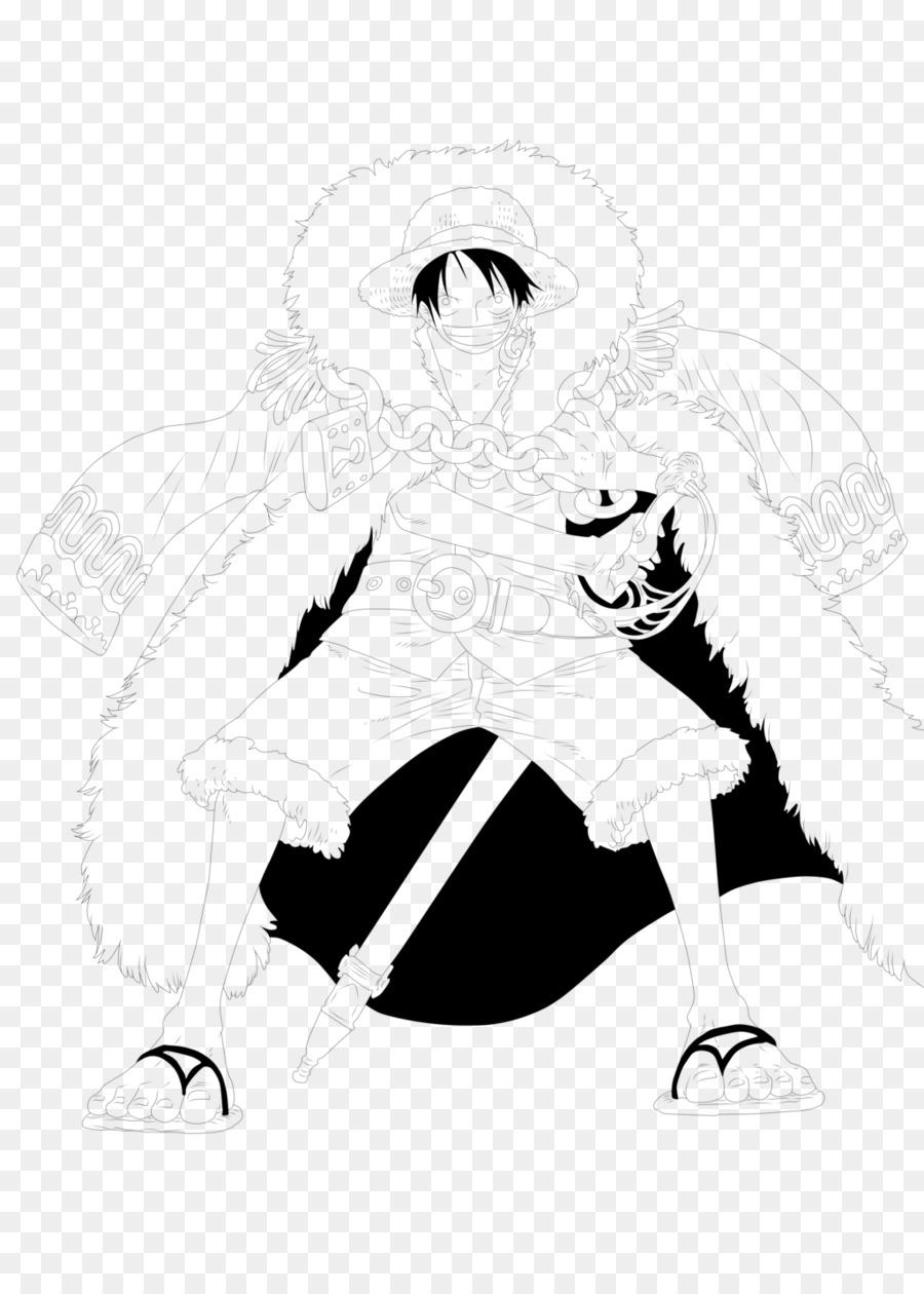 Monkey D Luffy Line Art Character Sketch Monkey D Luffy Png