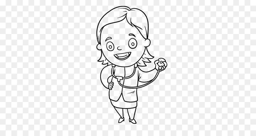 Drawing Coloring Book Physician Character Doctor Woman Png