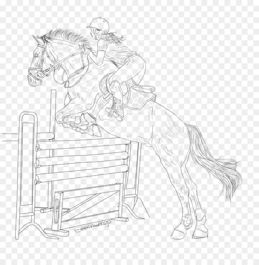 Kuda kuda line art mane sketsa kuda