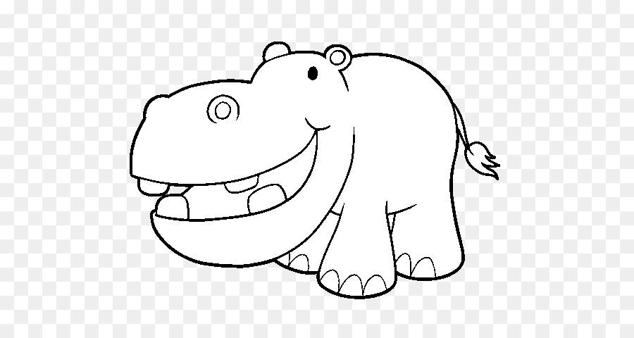 Hipopótamo Dibujo Clip art - desenho hipopotamo png dibujo ...