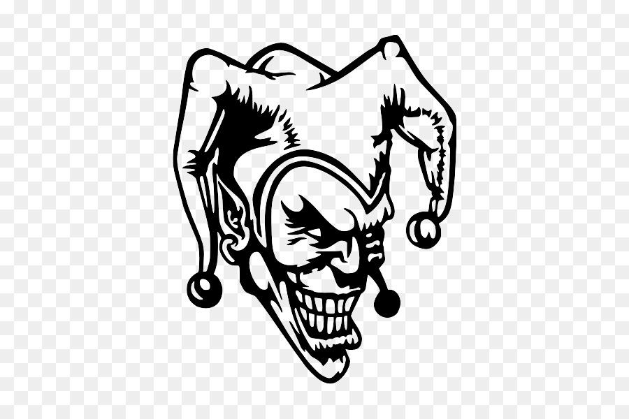 joker sticker black and white decal joker png download 600 600