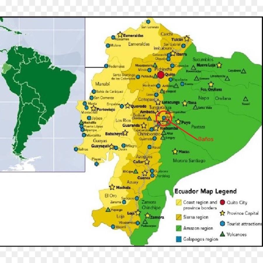 South America Map Ecuador.Ecuador Geography Map Region Physische Karte Map Png Download