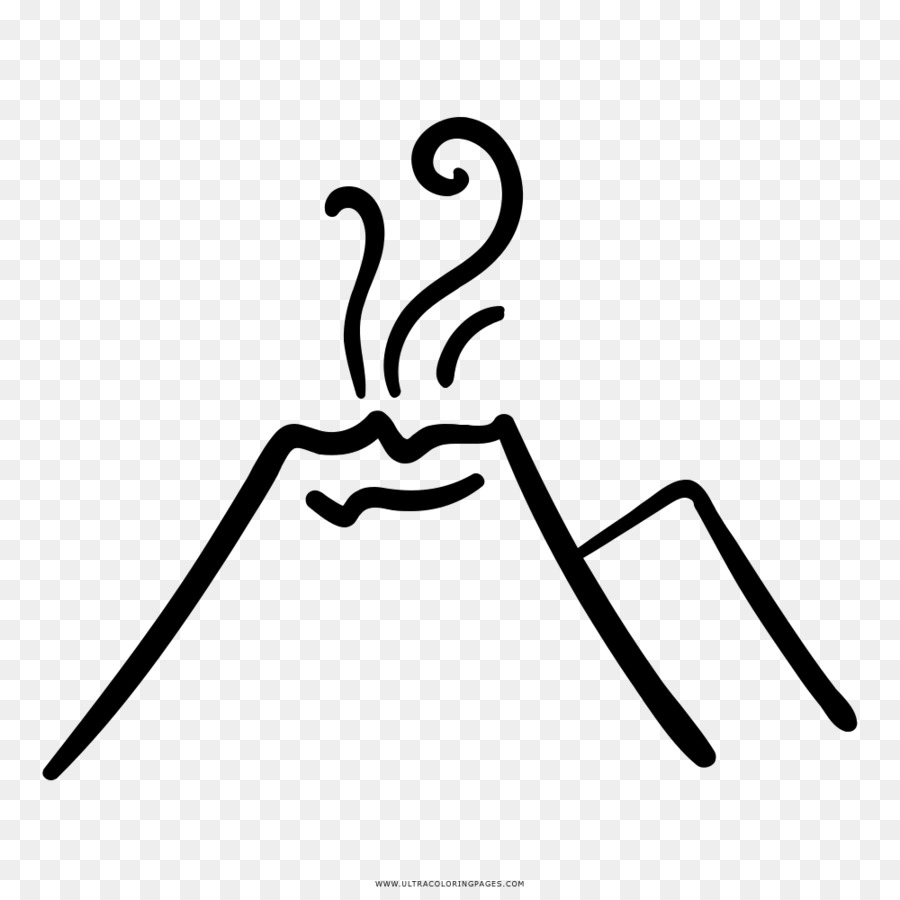 Volcano Drawing Coloring Book Eldgos Dibujo Volcan Png Download