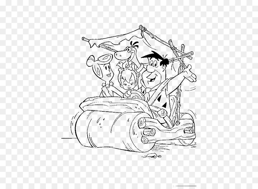 Guijarros Flinstone Fred Flintstone Wilma Picapiedra para Colorear ...
