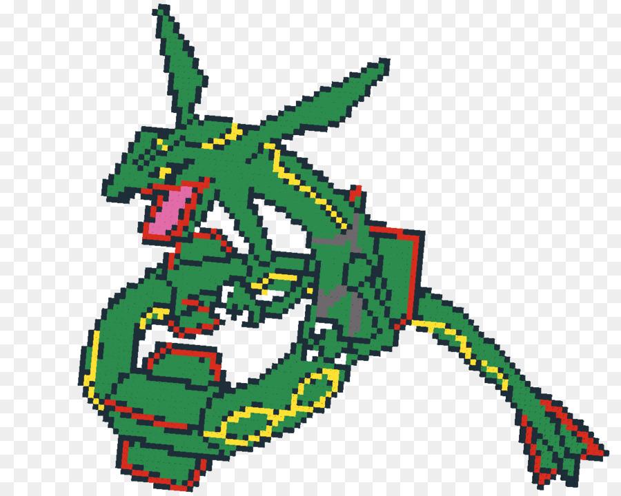 Pokémon Coloring Book Mewtwo Rayquaza   Pixel Art Pokemon Rayquaza