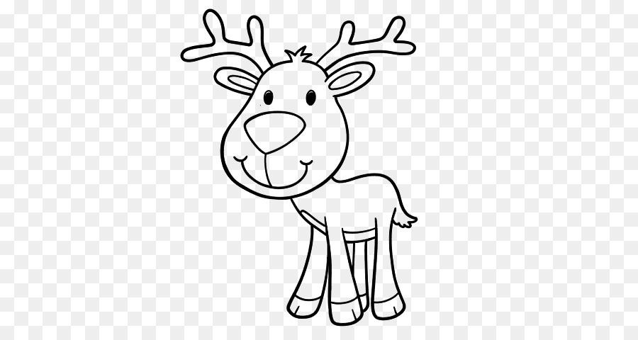Ciervo rojo Renos Dibujo para Colorear libro - los ciervos png ...