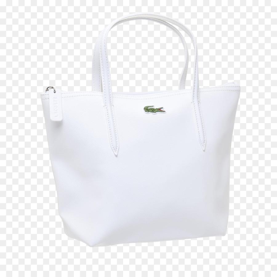 7e0ac15c53e4d Saco de Tote Couro Moda Lacoste - saco - Transparente Branco, Bolsa ...