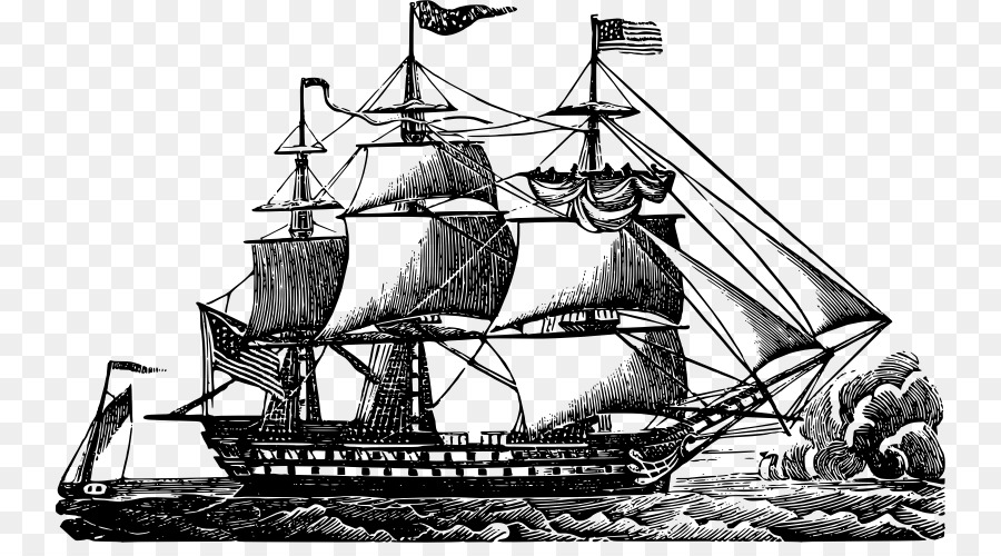 uss constitution sailing ship clip art ship png download 800 488