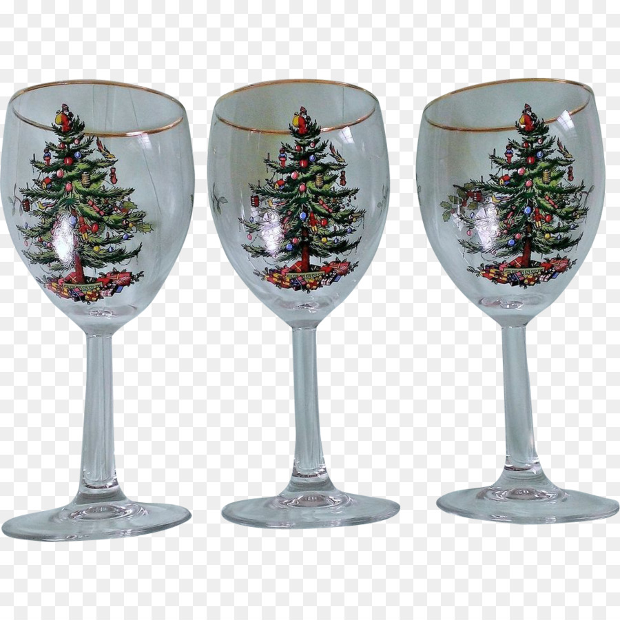 wine glass champagne glass christmas ornament glass