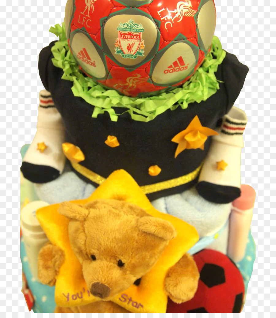 Diaper Cake Birthday Cake Baby Shower Football Baby Png Download