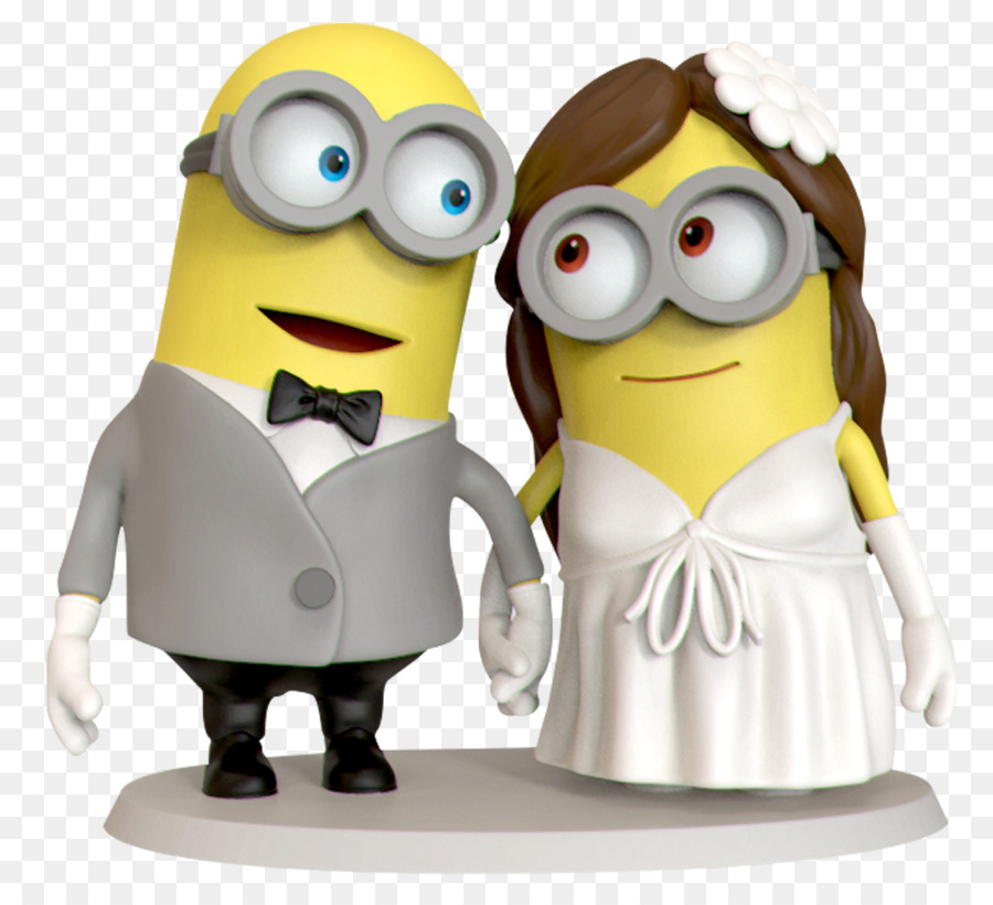 Wedding cake topper Birthday cake Minions - wedding cake png ...