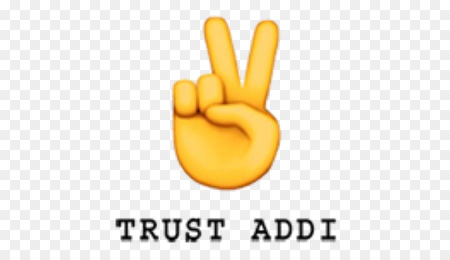 Emoji Sign Language Peace Symbols V Sign Emoji Png Download 512