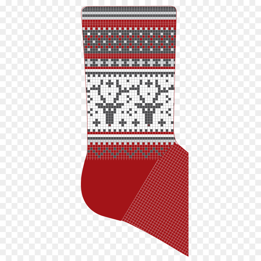 Knitting pattern Crochet Fair Isle Pattern - christmas stocking ...