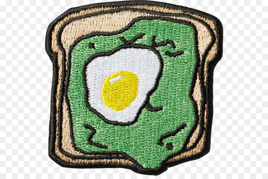 Avocado Toast Embroidered Patch Embroidery Avocado Toast Png