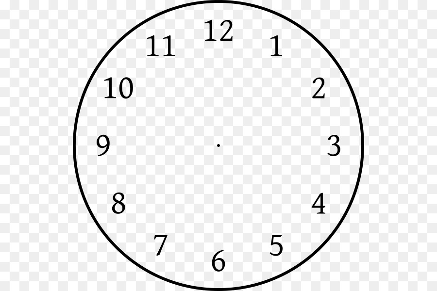 Clock Face Template Position Clip Art Without Hands Png 600 Free Transpa