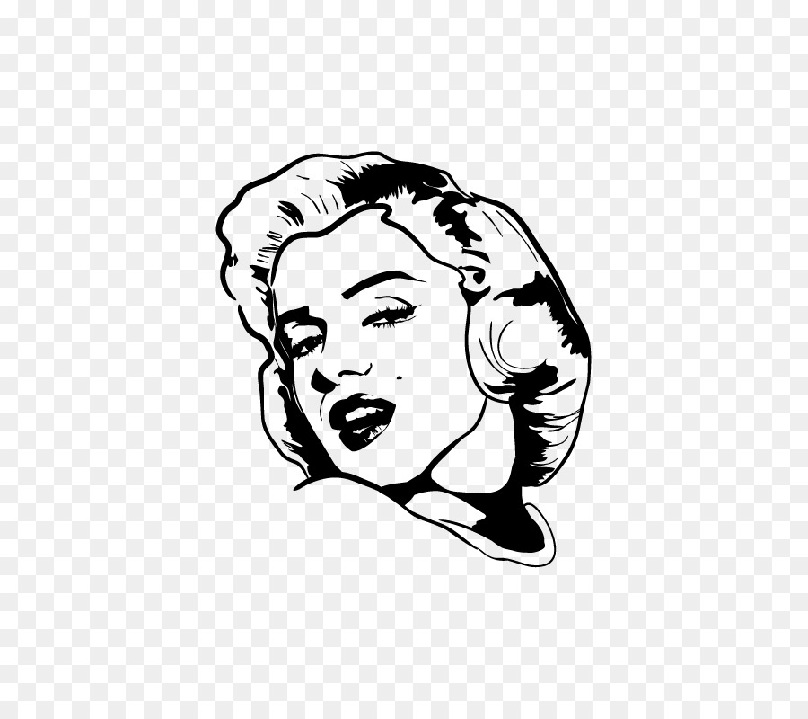 Portrait Canvas Interieur Sticker Sketch - marilyn monroe decals png ...