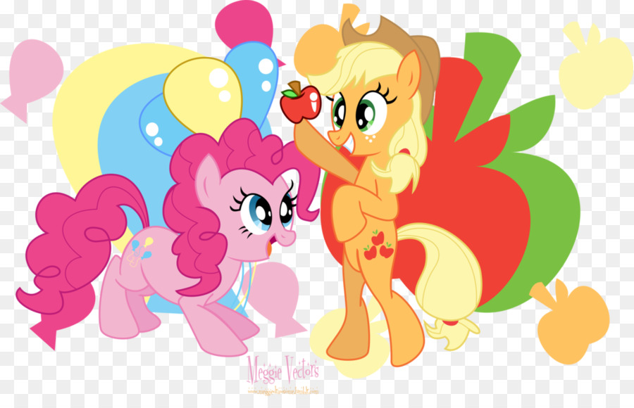 Applejack And Pinkie Pie Kiss