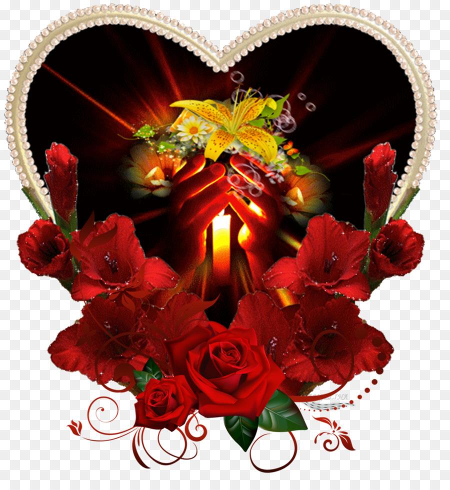 Emoticon Gfycat Smiley Fleur En Forme De Coeur Png Download 908