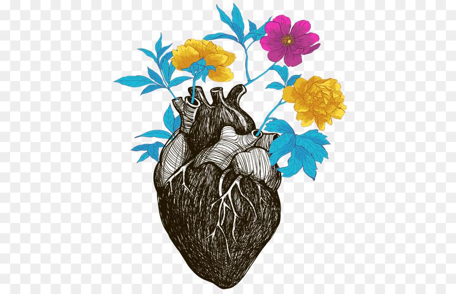 Anatomía De La Flor Del Corazón - flor png dibujo - Transparente png ...