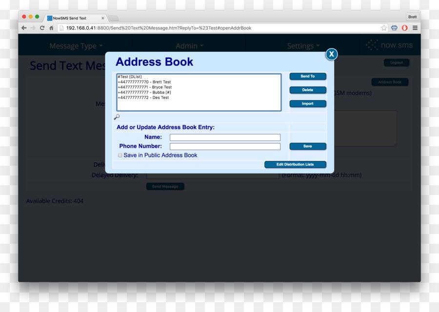 computer program address book distribution list information book