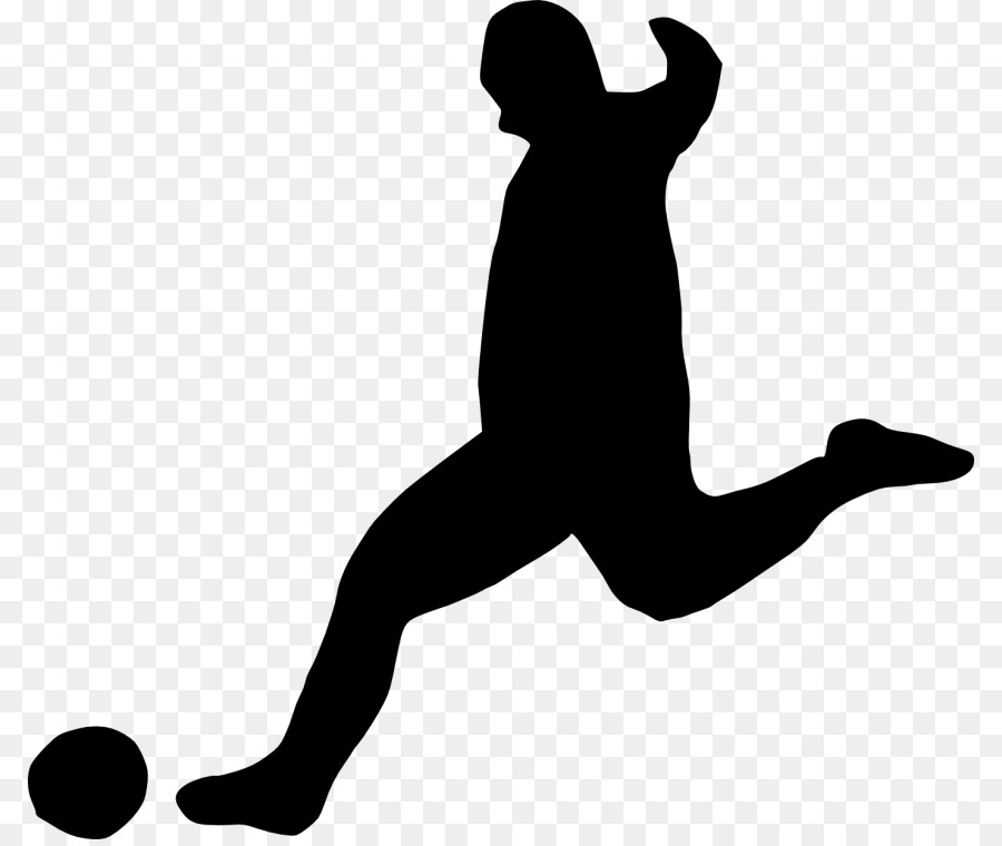 Fussball Spieler Clipart Silhouette Png Herunterladen 850