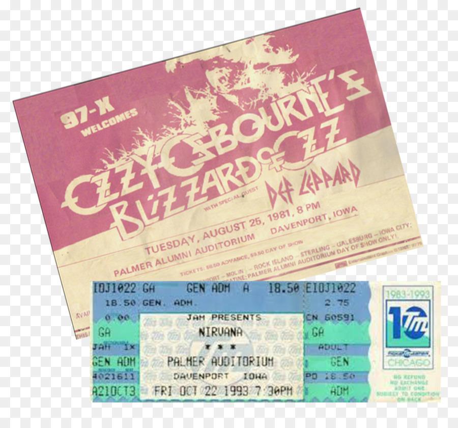 concert ticket nirvana davenport musical ensemble blank ticket