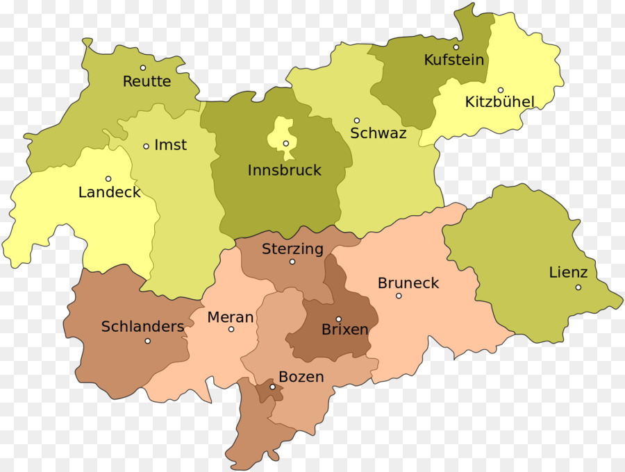 County Of Tyrol Map Schutzen South Tyrol Map Png Download 1280