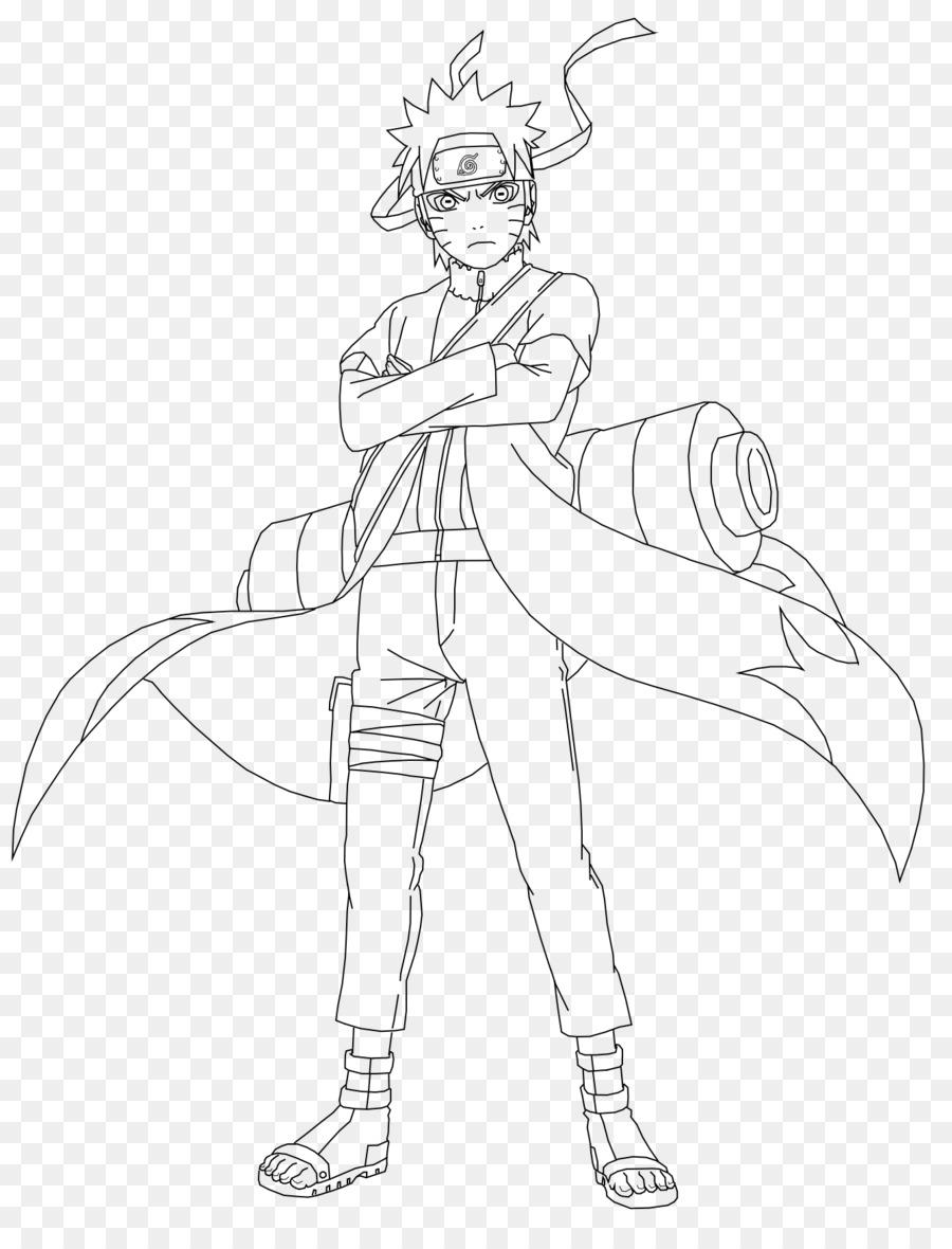 Naruto uzumaki drawing naruto line art black and white png