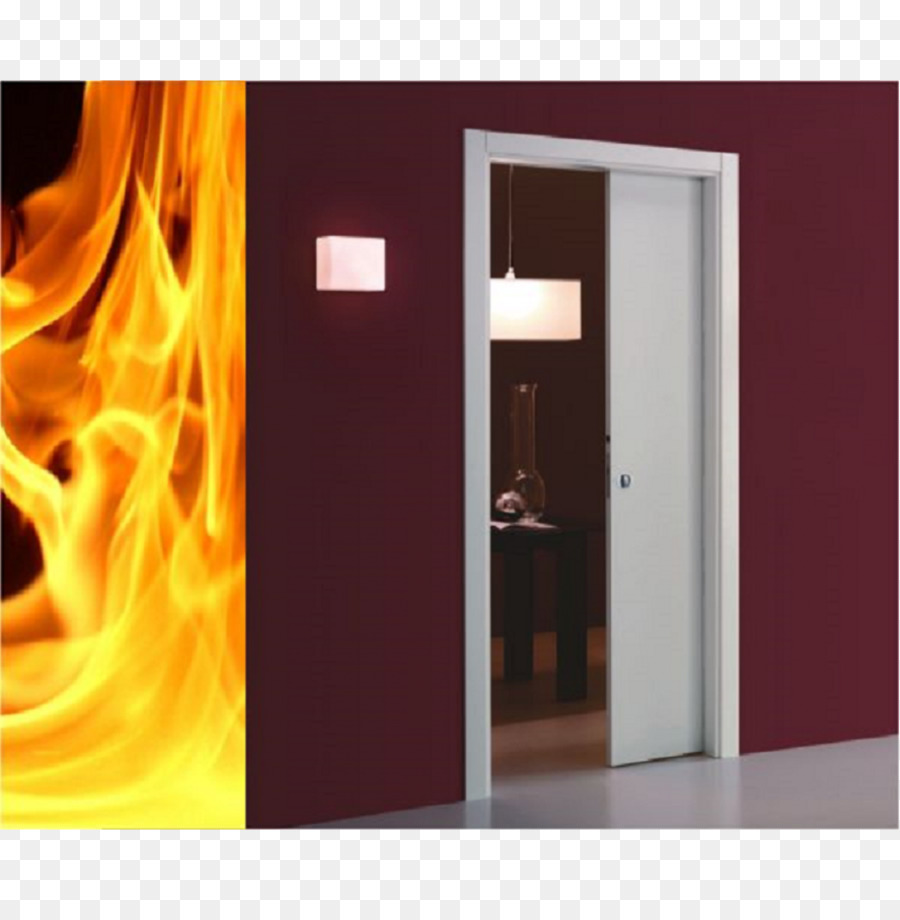 Sliding Door Pocket Fire Glass