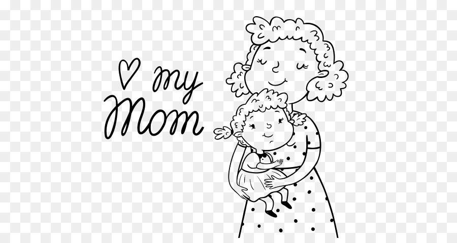 Coloring Book Mothers Day Father Love Little Girls Having Fun Png