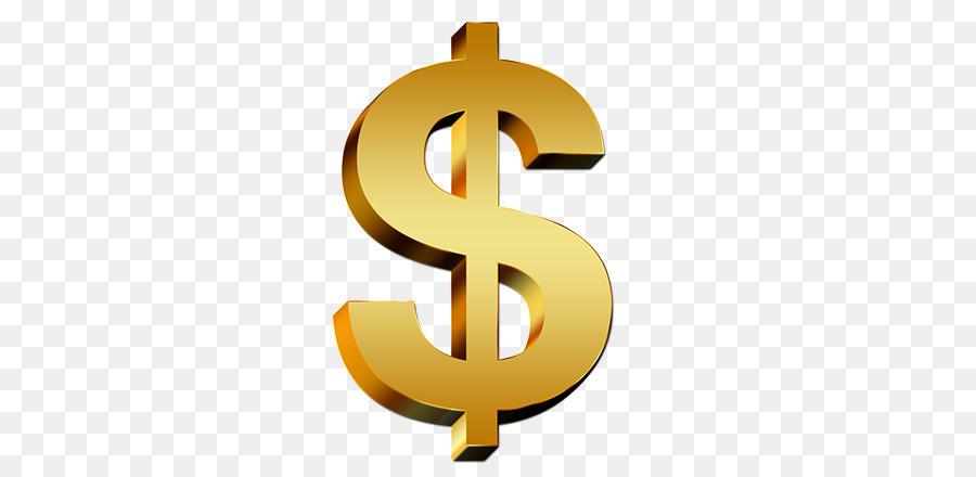 Gold Dollar Sign png download - 600*438 - Free Transparent