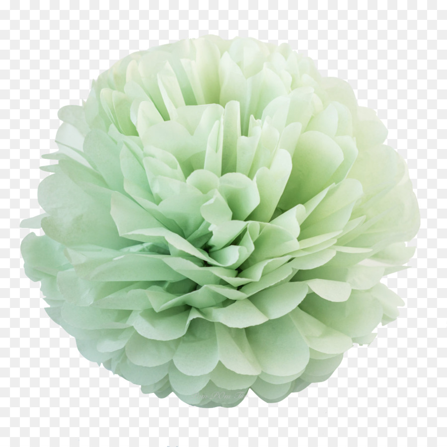 Paper Pom Pom Flower Green Pastel Flower Png Download 12801280