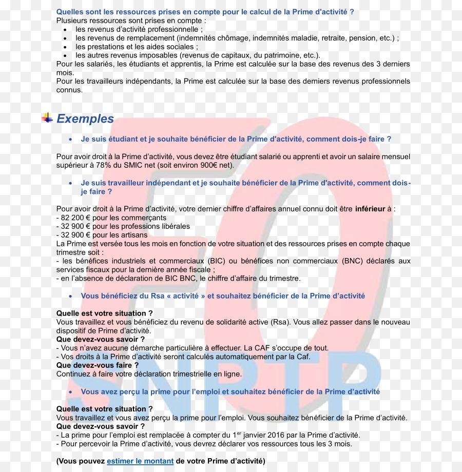 Prime D Activite Document Private Sector Public Sector Revenu De