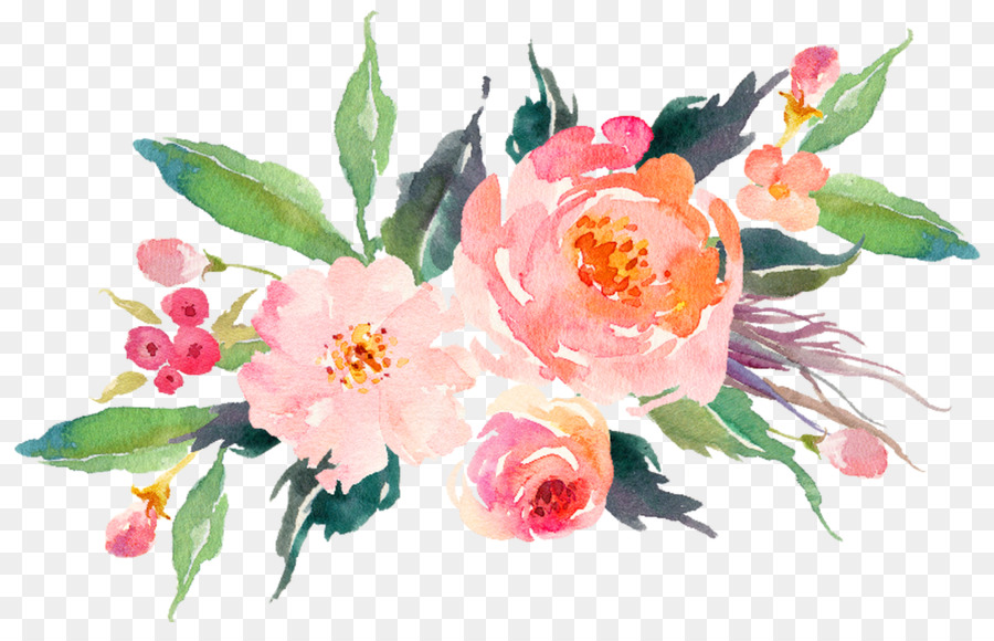Watercolour Flowers Watercolor Painting Art Transparent Watercolor